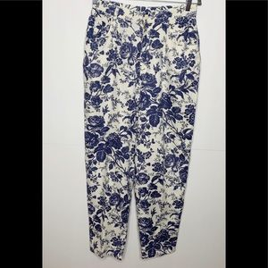 Lauren Ralph Lauren Linen Floral Pants Size 12